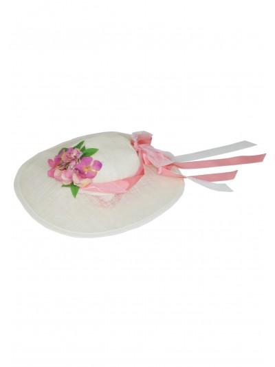 Pink Flower Hat