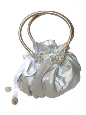 Princess bag Silver Lamé